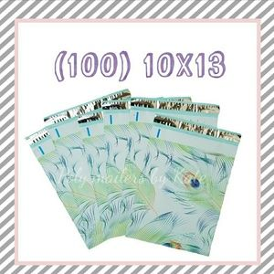 (100) peacock Poly Mailers 10x13